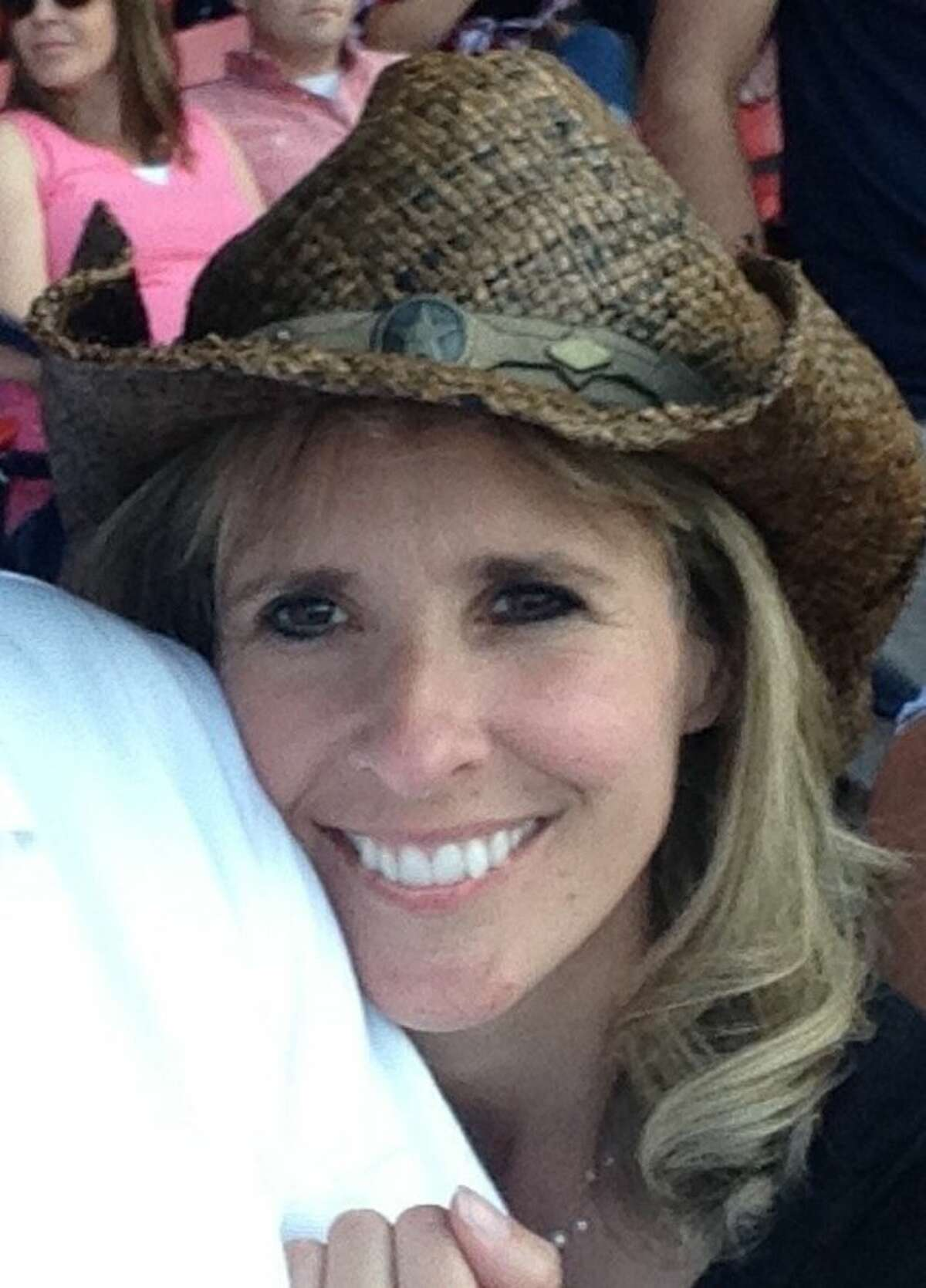 Tonya Carpenter is seen in an undated photo provided by her family. Carpenter, 44, of Paxton, Mass., who was hit by a broken bat at Fenway Park during a game between the Oakland Athletics and the Boston Red Sox on Friday night, remained in serious condition Sunday.
