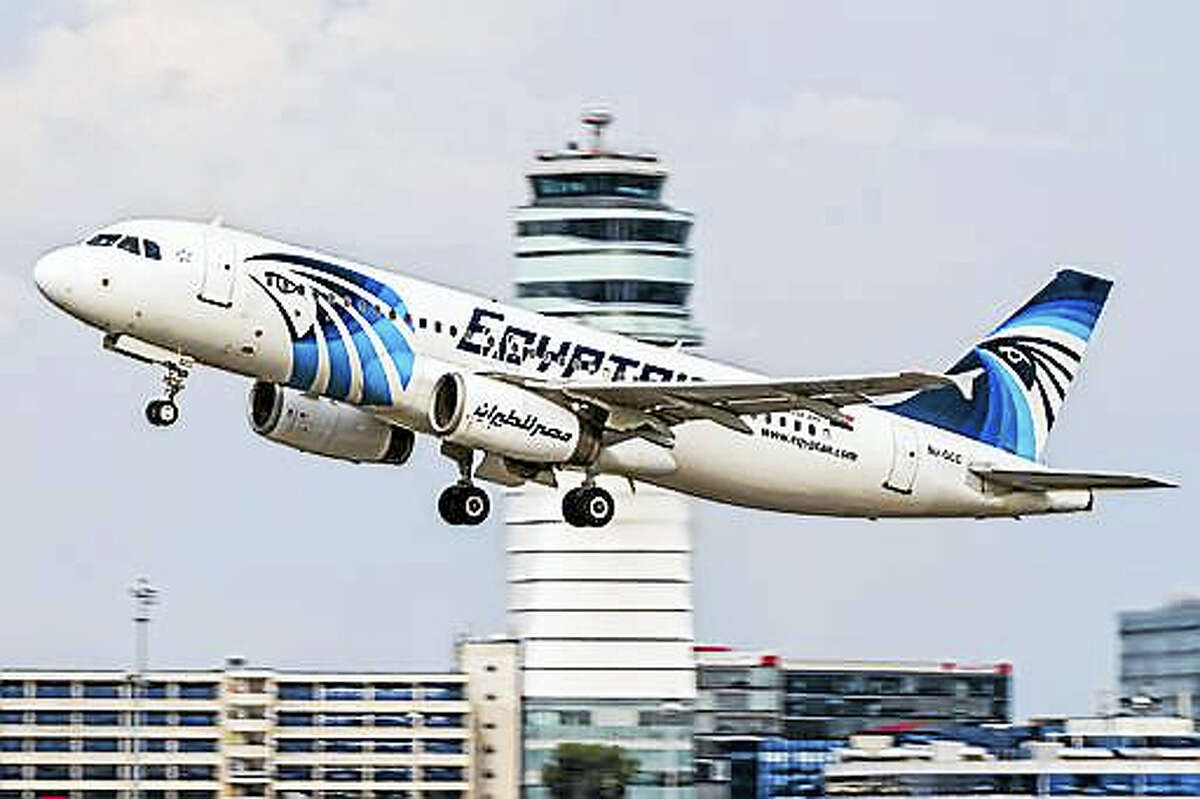 This August 21, 2015, file photo shows an EgyptAir Airbus A320 with the registration SU-GCC taking off from Vienna International Airport, Austria. The cockpit voice recorder of the doomed EgyptAir plane that crashed last month killing all 66 people on board has been found and pulled out of the Mediterranean Sea, Egypt's investigation committee said on Thursday, June 16, 2016.