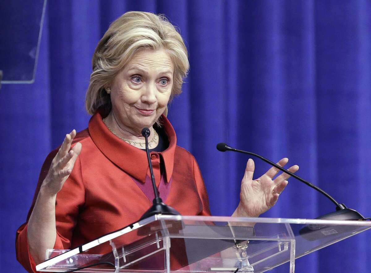 Democratic presidential candidate Hillary Rodham Clinton delivers a speech at Texas Southern University in Houston on June 4, 2015.