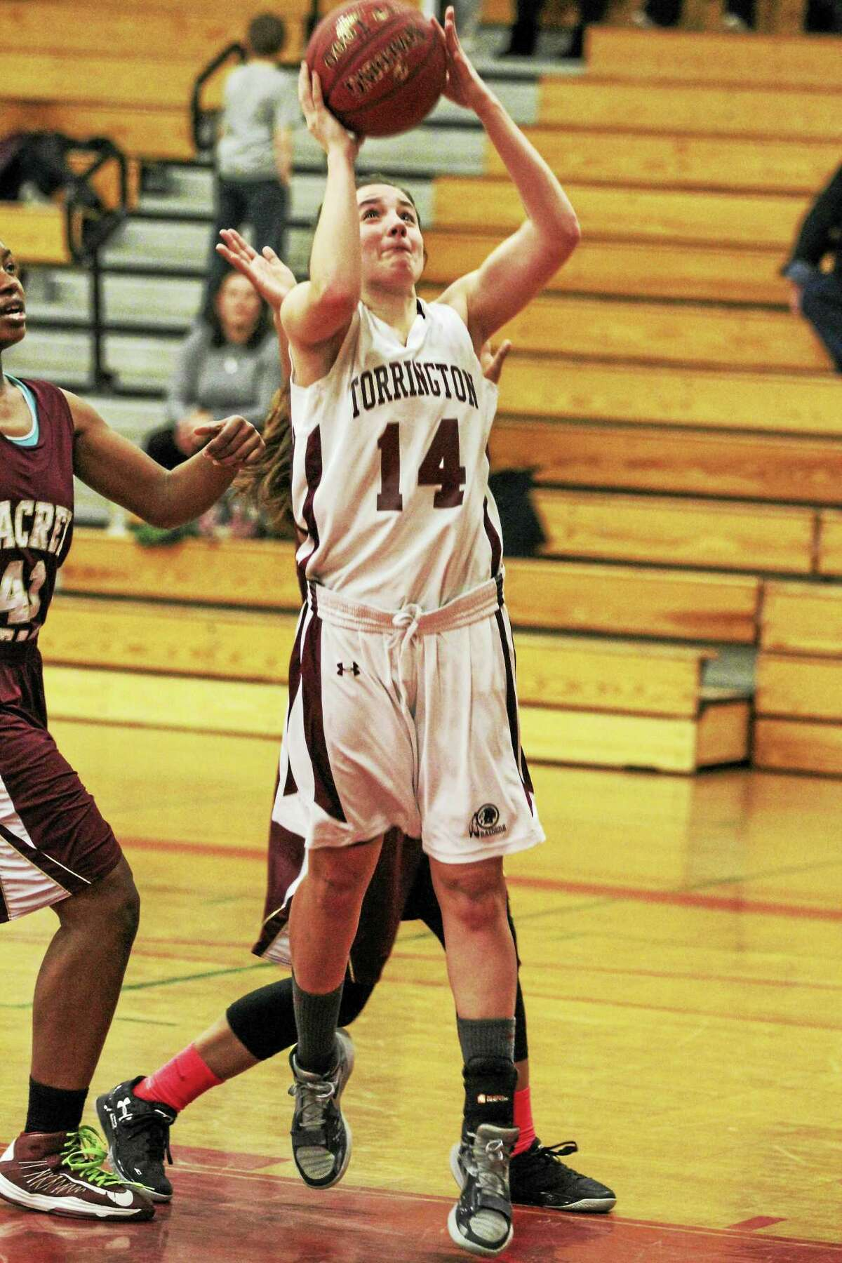 Torrington's Sidnee Kovall scored a game-high 16 points against Sacred Heart on Saturday.