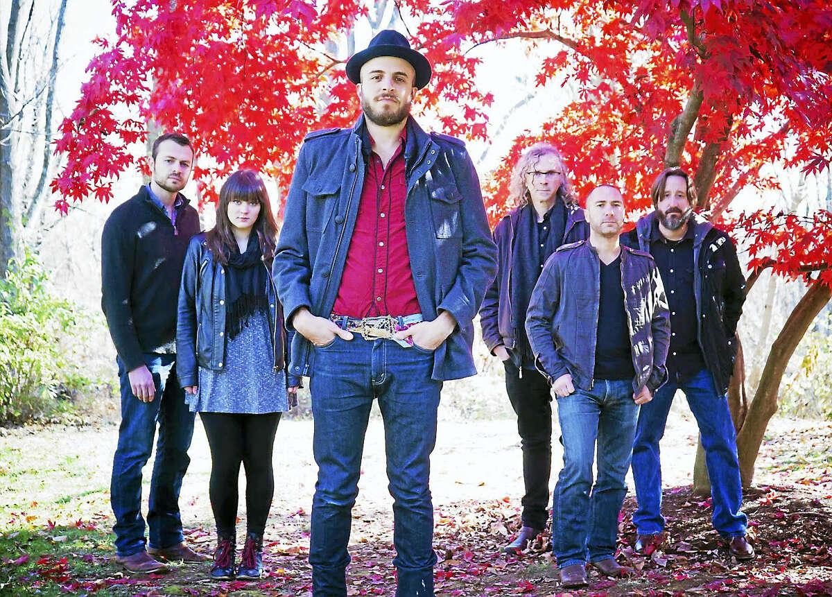 The six-piece band Kingsley Flood.