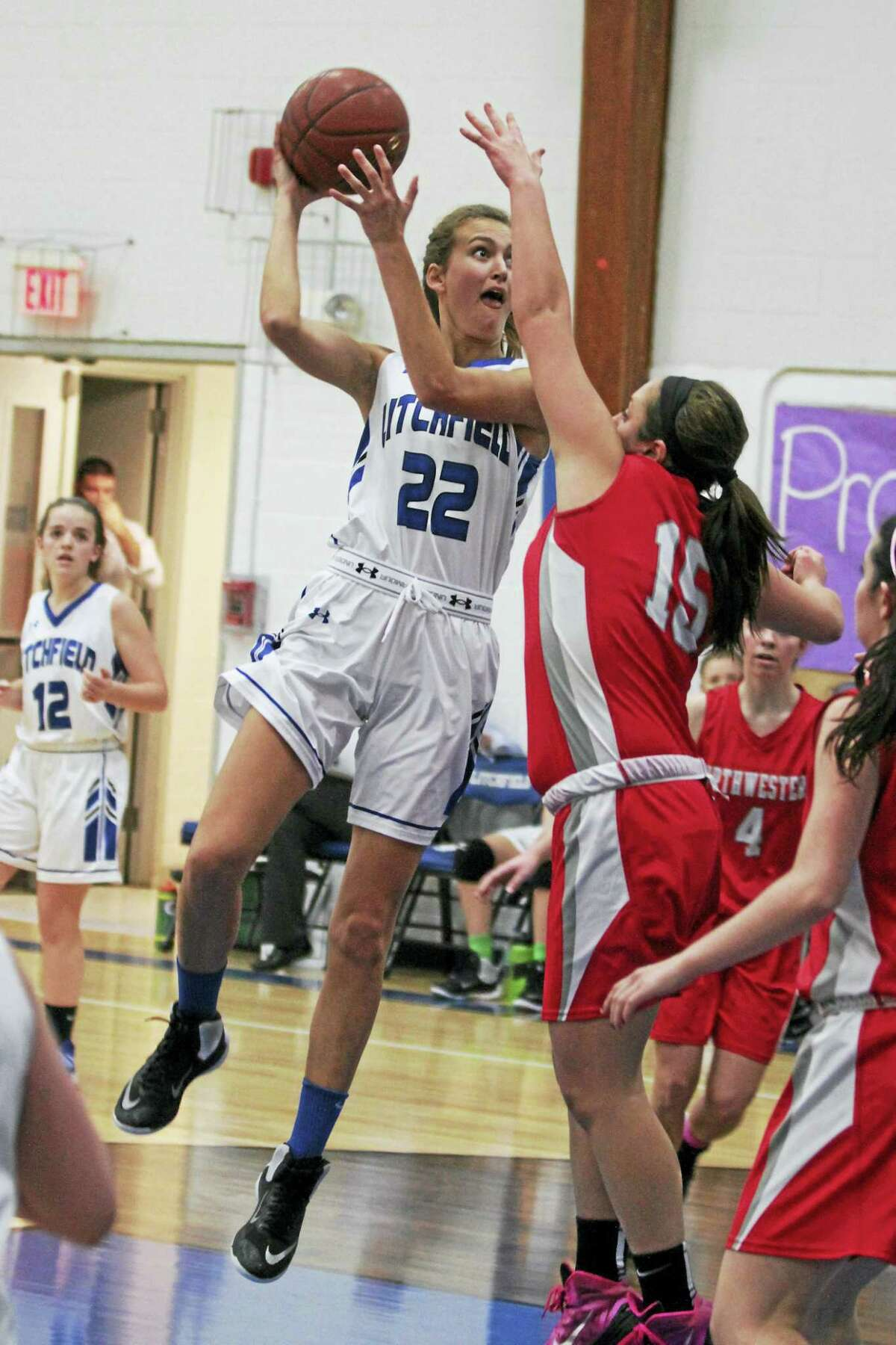 Litchfield 6-foot-1 center Elena Kennedy was the only senior starter in a battle between two young teams Thursday evening.
