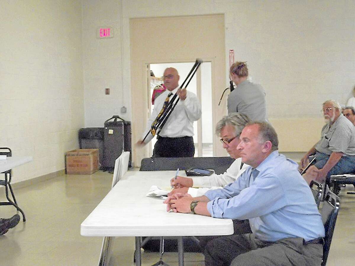 Mark Greenberg pleads his case for new Stop & Shop plans at an Inland Wetlands Commission meeting in Litchfield in this Register Citizen file photo.