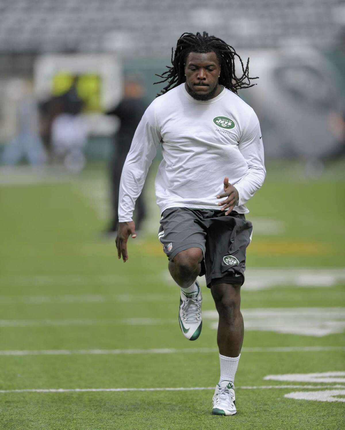 Jets running back Chris Ivory warms up before a game earlier this season.