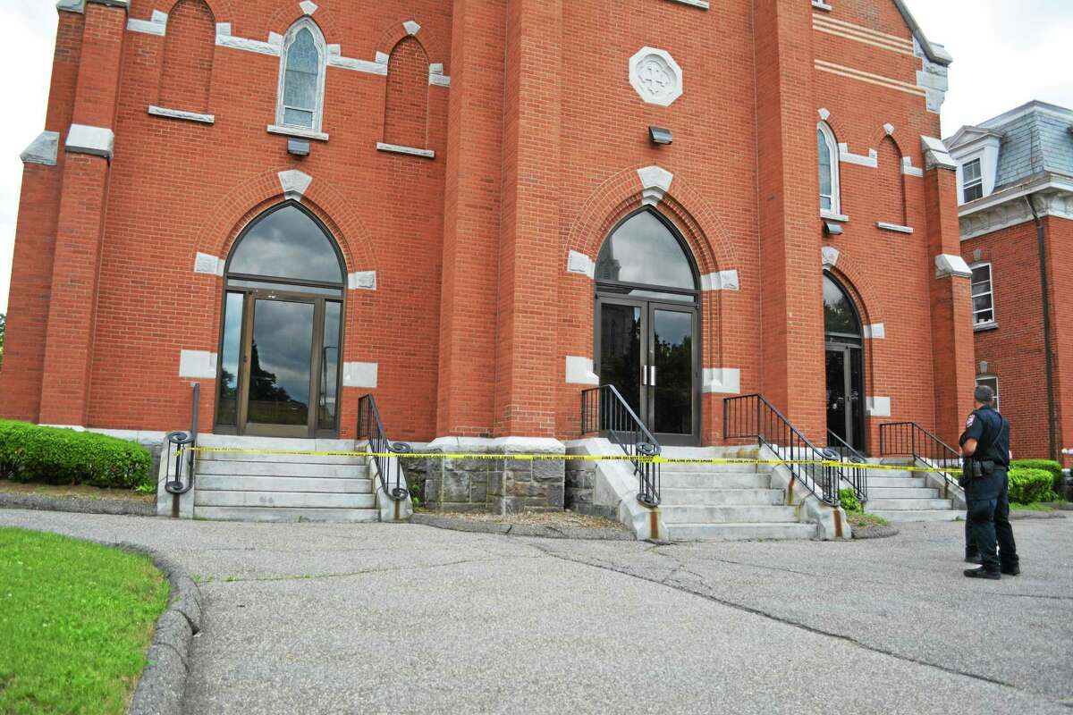 St. Francis Church on 160 Main St. was vandalized late Thursday morning.