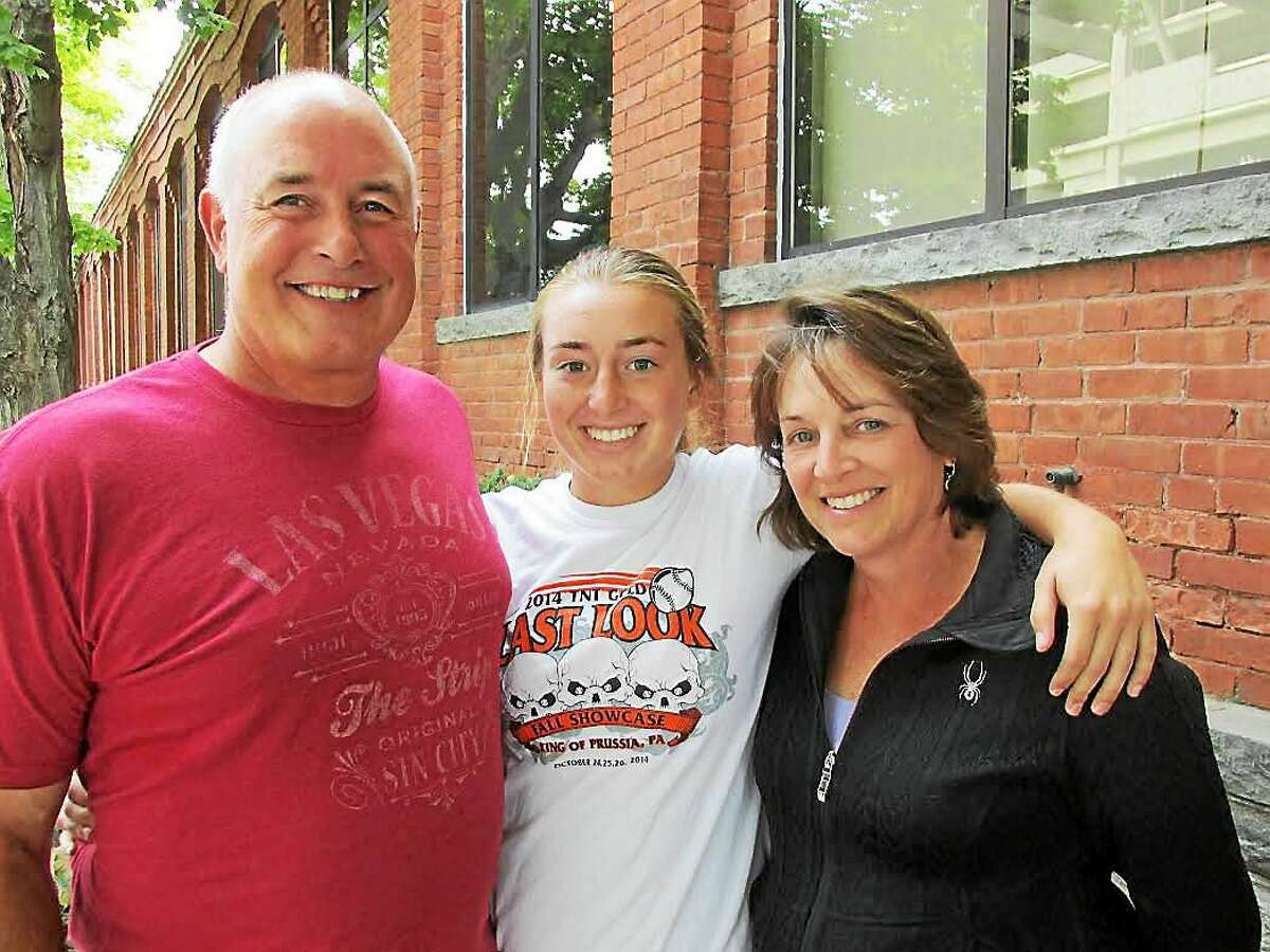 Craig and Sue Dubois shared the summer's wild sofball ride with daughter Ali.