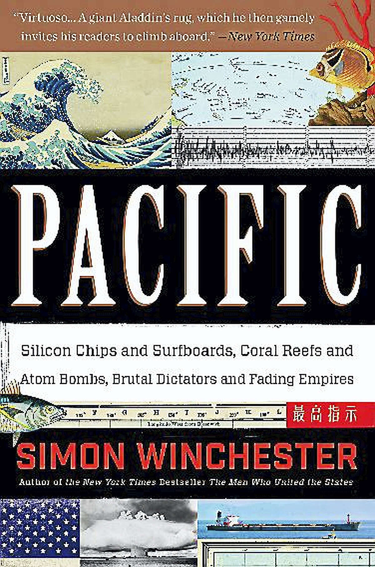 Contributed photoPacific, by Simon Winchester, who will discuss his book at Northwest Connecticut Community College in Winsted.