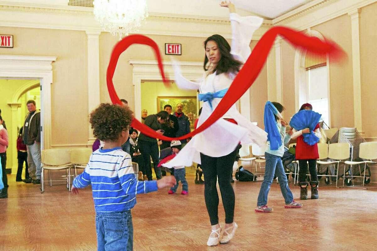 The great ribbon dance at last year's Lunarfest.