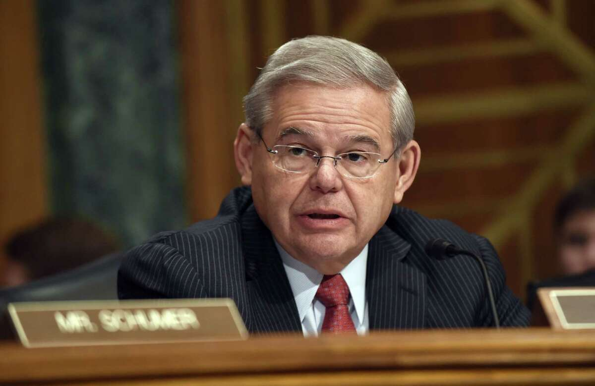 U.S. Sen. Robert Menendez, D-N.J. speaks on Capitol Hill in Washington. It flew through the Republican-run House in 2012, and a year later 79 of the Democratic-led Senateís 100 members embraced it. With Republicans now controlling both chambers of Congress, the chances for repealing the 2.3 percent tax on medical devices are better than ever.
