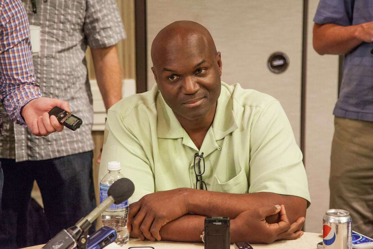 New York Jets head coach Todd Bowles is seen at the AFC Coaches Breakfast on March 24.