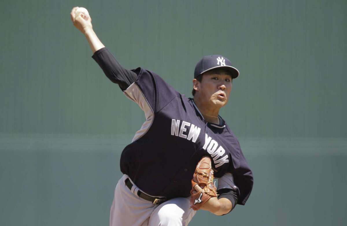 New York Yankees starter Masahiro Tanaka delivers against the Minnesota Twins on Tuesday in Fort Myers, Fla.