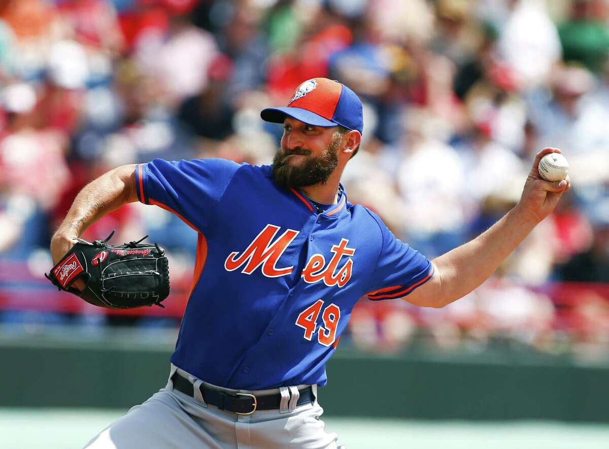 New York Mets starter Jonathon Niese works in the first inning of a spring training game against the Washington Nationals on Tuesday in Viera, Fla.