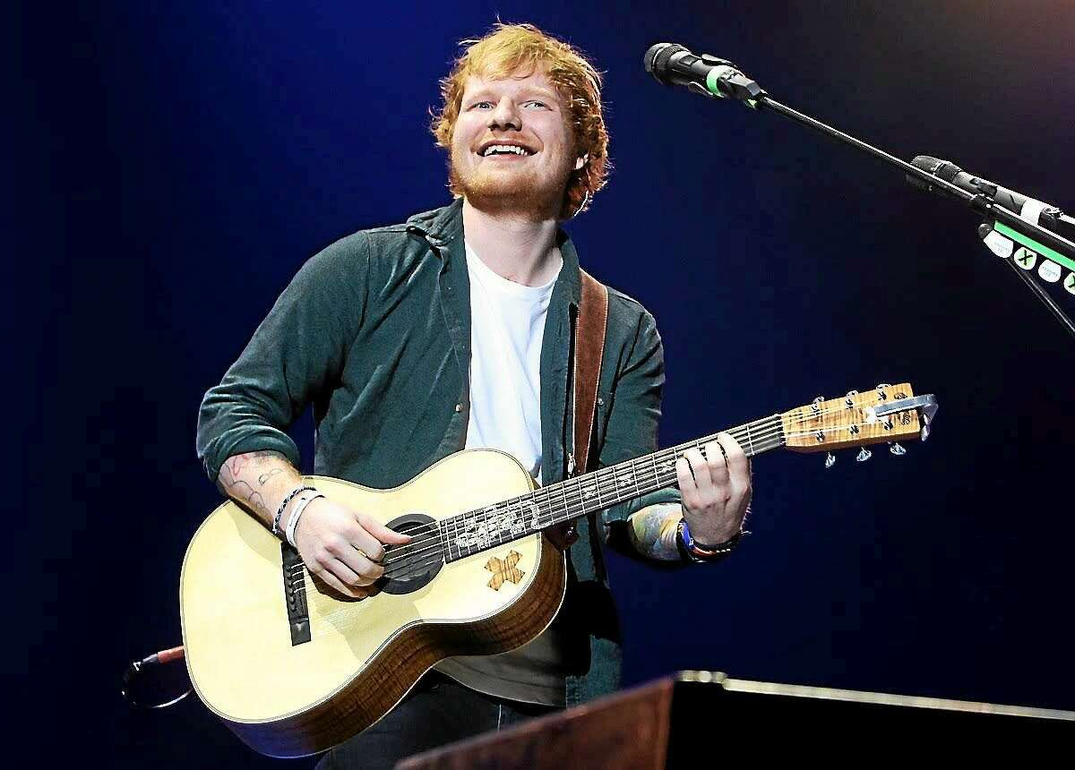 """English singer, songwriter and guitarist Ed Sheeran is shown performing to a sold-out crowd of his fans at the Mohegan Sun Arena in Uncasville on May 23. Ed is currently on tour in support of seond studio album """"X."""""""