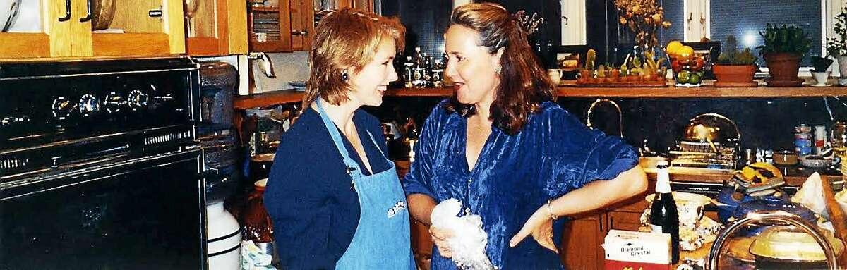 Pamela Hogan, left, with the late Laury Sacks.