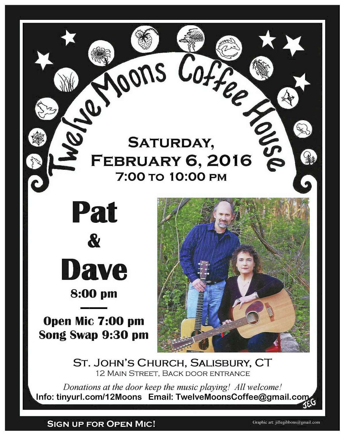 Contributed photoPat & Dave are the next performers at Twelve Moons Cafe in Salisbury on Feb. 6.