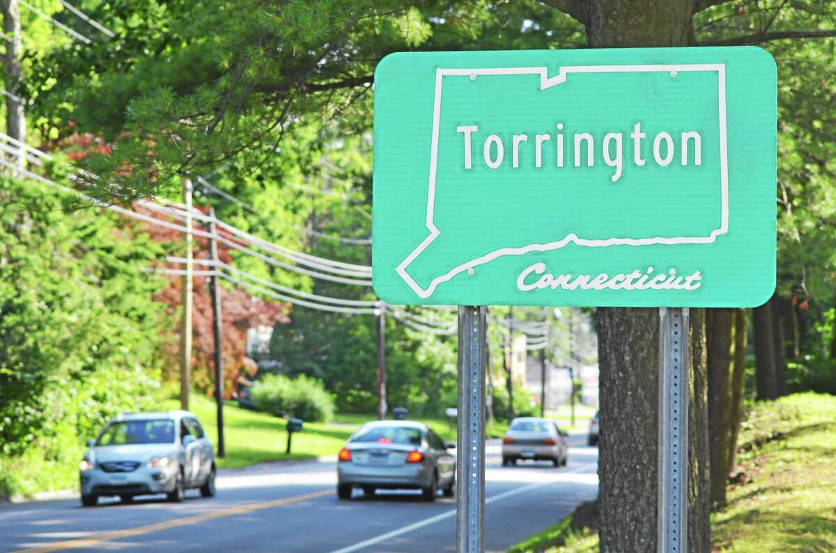 Tom Caprood-Register Citizen One of the current signs welcoming motorists into Torrington as seen on Winsted Road Friday, July 3.