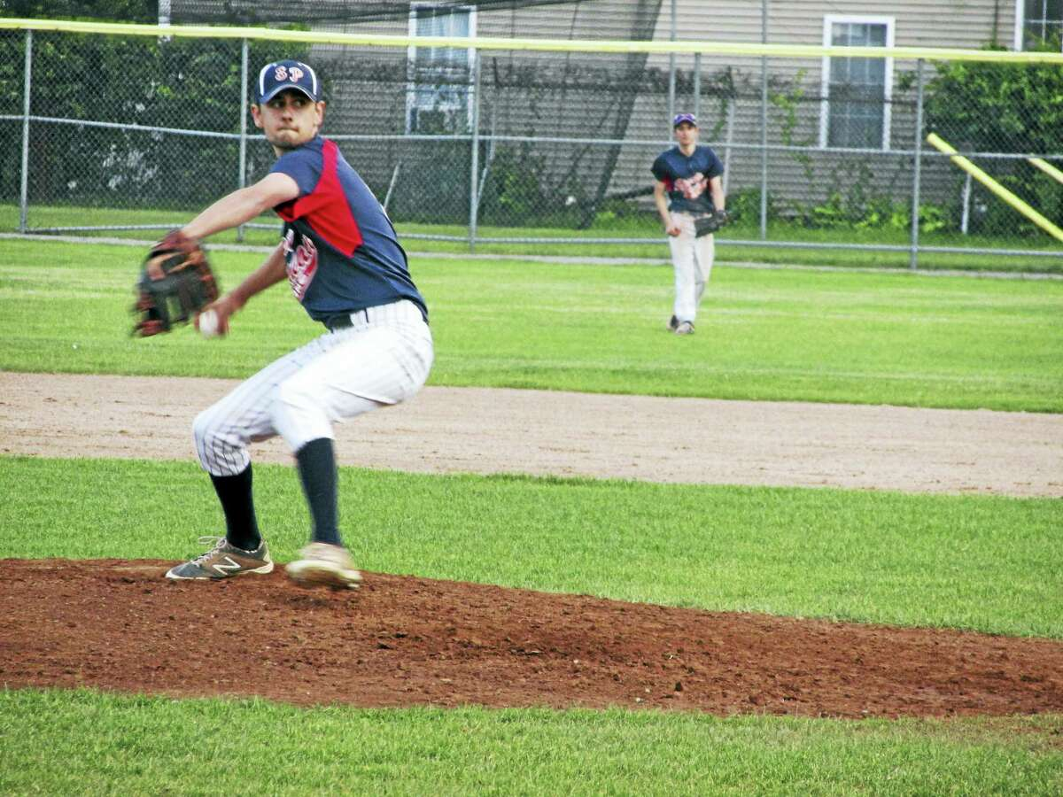 Photo by Peter WallaceTorrington's Josh Rubino got the start for Sports Palace's opening Connie Mack baseball win over Terryville Monday night at Fuessenich Park.