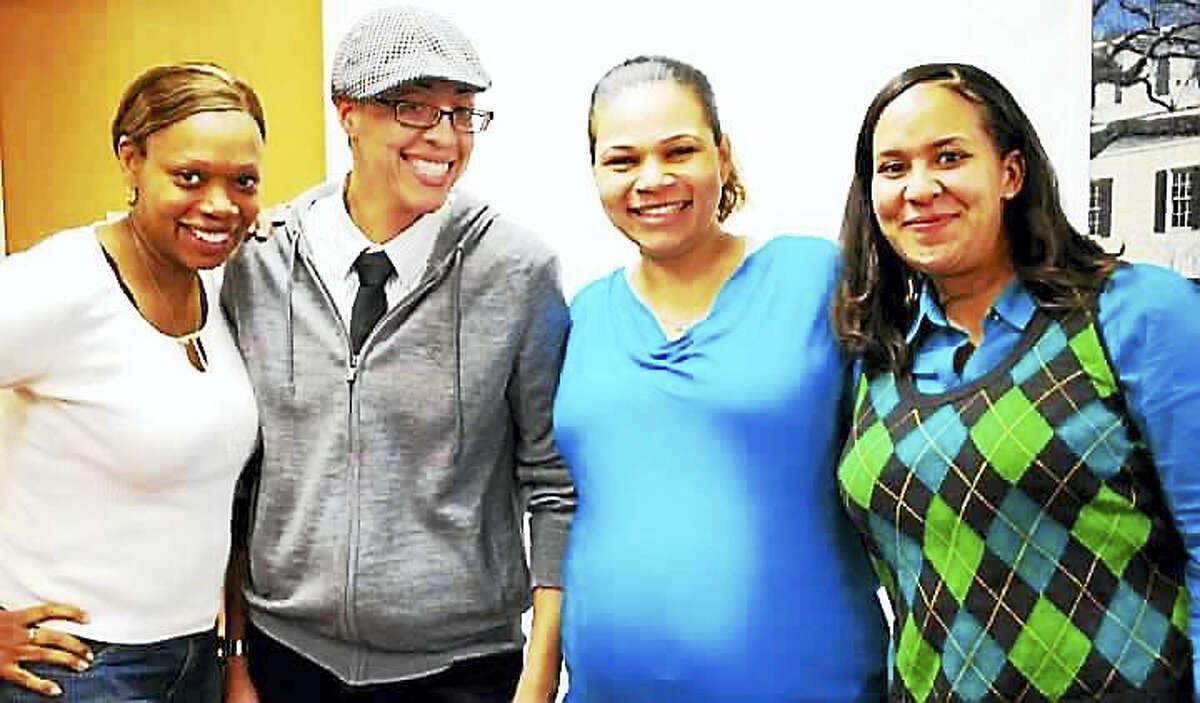 Kimberly Morris, second from left, with her friends. Morris was remembered as a kind person and good friend with a contagious laugh.