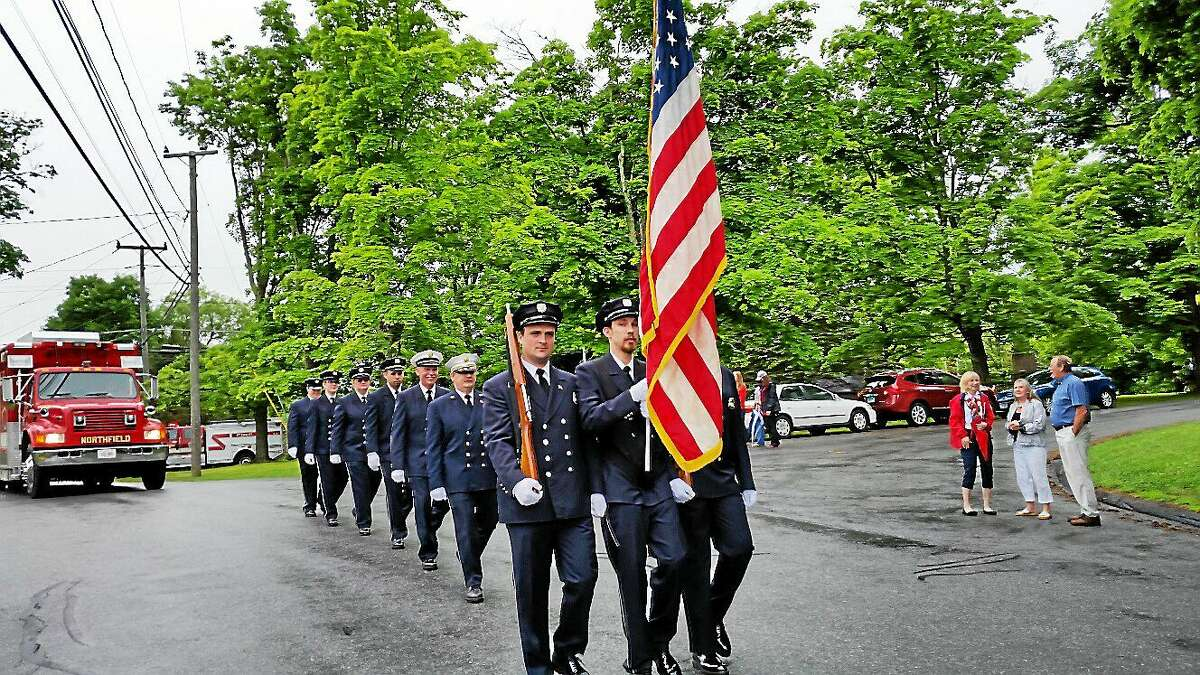 Members of the Northfield Volunteer Fire Company marched Sunday morning in the Northfield Memorial Day Ceremony and Parade.