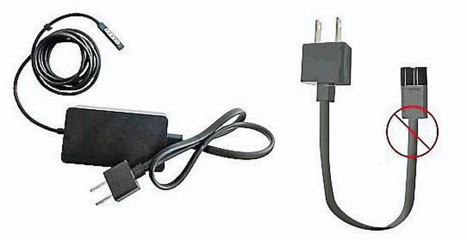 Microsoft is recalling more than 2 million power cords sold with Microsoft Surface Pro, Surface Pro 2 and Surface Pro 3 computers before March 15, 2015. Photo: Photos Courtesy Of The U.S. Consumer Product Safety Commission