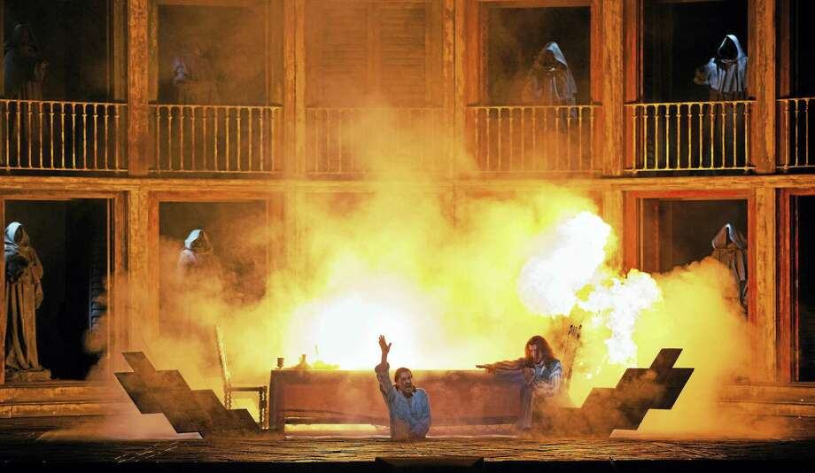 "Photo courtesy of the Metropolitan Opera A dramatic scene from ""Don Giovanni"" which will be presented live in HD at the Warner Theatre on Saturday, Oct. 22. Photo: Marty Sohl/Metropolitan Opera / Marty Sohl/Metropolitan Opera"