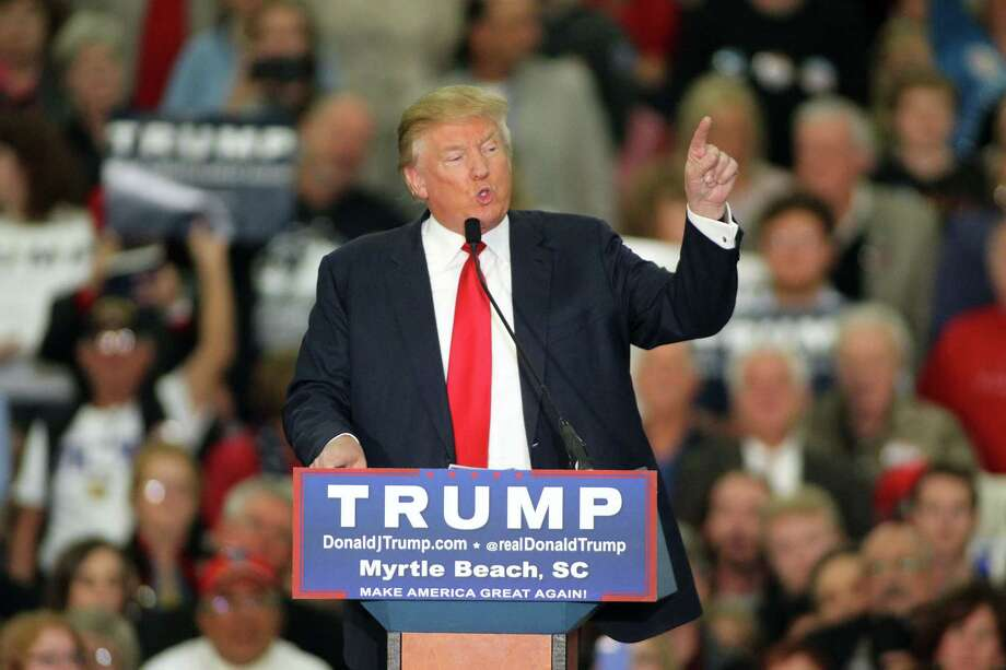 Republican presidential candidate Donald Trump speaks during a campaign event at the Myrtle Beach Convention Center on Tuesday, Nov. 24, 2015, in Myrtle Beach, S.C. Photo: AP Photo/Willis Glassgow   / FR34287 AP