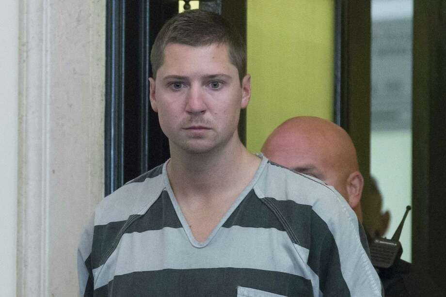 Former University of Cincinnati police officer Ray Tensing appears at Hamilton County Courthouse for his arraignment in the shooting death of motorist Samuel DuBose, Thursday in Cincinnati. Tensing pleaded not guilty to charges of murder and involuntary manslaughter. Photo: AP Photo  / AP