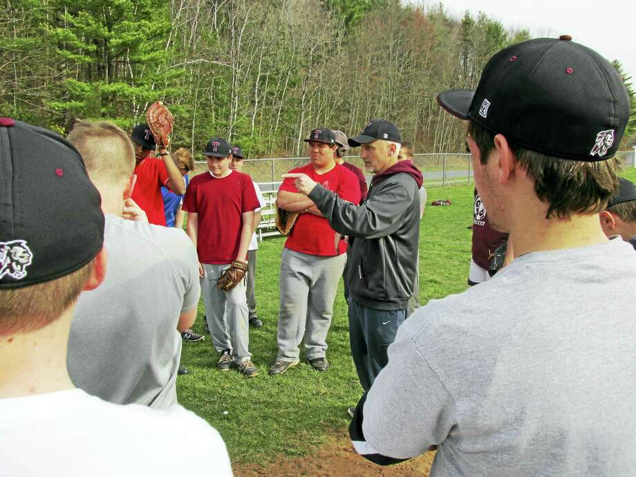 Torrington baseball coach Pat Richardson has high hopes for the Red Raiders in the NVL's tough Iron Division this year. Photo: Peter Wallace — Register Citizen