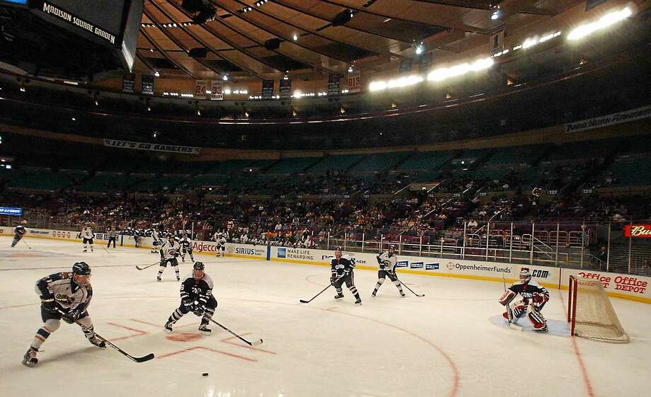 Quinnipiac's first and only Madison Square Garden appearance was against UConn on March 1, 2003. At the time it was  the first college hockey game in Madison Square Garden since 1977. Photo: Peter Hvizdak — Register File Photo