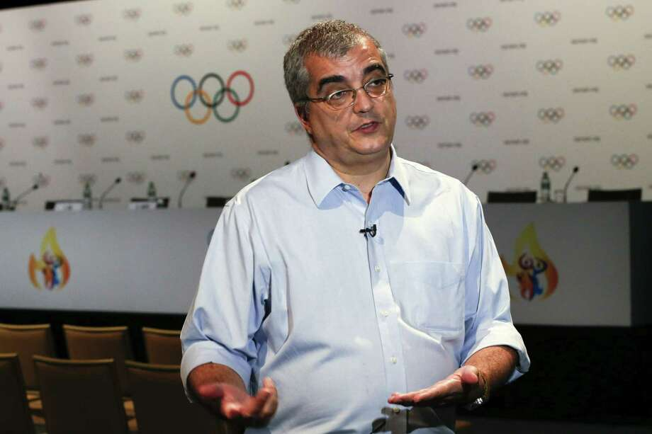 Mario Andrada, spokesman for the Rio Olympic organizing committee, speaks to the Associated Press during an interview in Kuala Lumpur, Malaysia, Thursday. An Associated Press analysis of water quality has revealed dangerously high levels of viruses and bacteria from human sewage in Olympic and Paralympic venues in Rio de Janeiro. Photo: AP Photo/Vincent Thian / AP