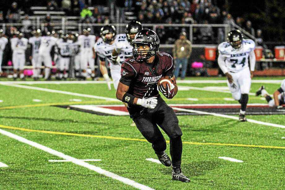 Marianne Killackey - Special to Register Citizen file photoTorrington's Newton Frias takes off downfield during a game this season. Photo: Journal Register Co. / 2015