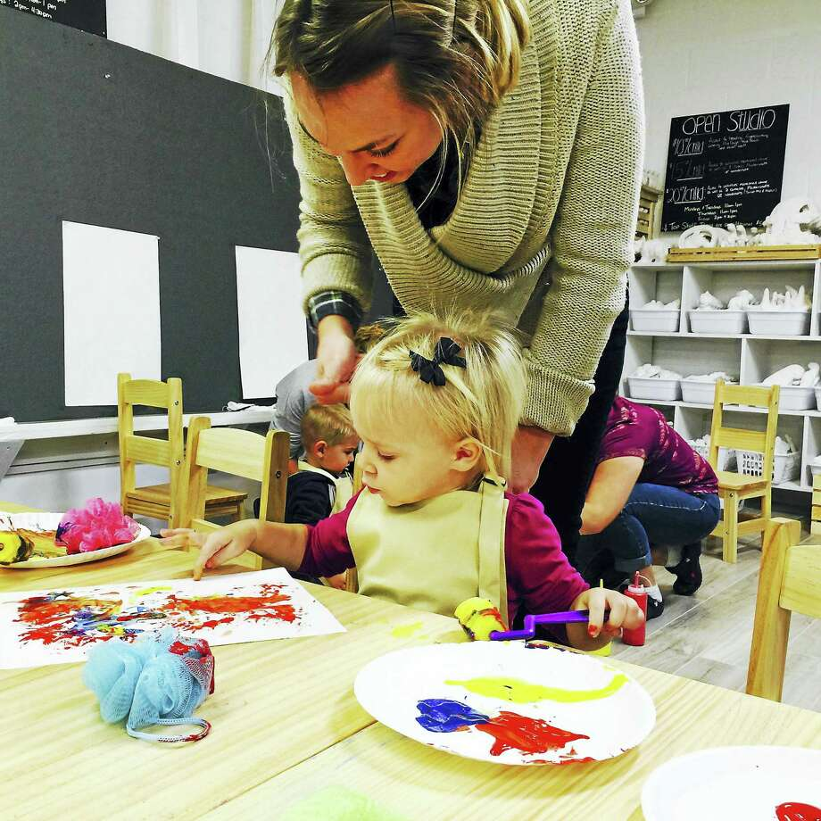 Contributed photoChildren get creative at the Silly Sprout's new art studio in Litchfield. Photo: Digital First Media