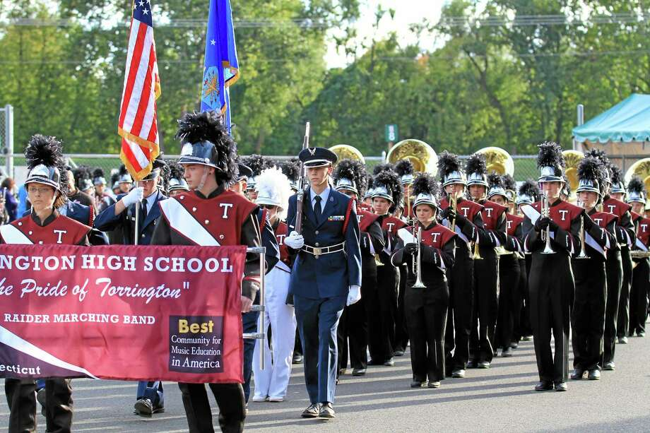 Torrington high School's Marching Band got some good practice at the Big E in this 2012 file photo. Photo: Marianne Killackey — Special To The Register Citizen  / 2012