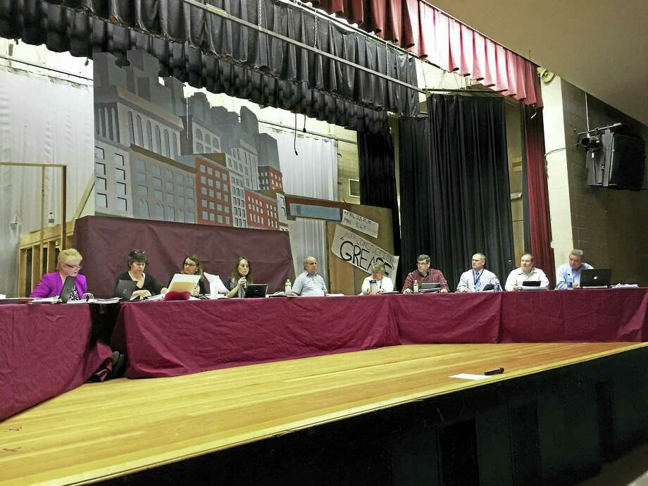 The Torrington Board of Education met Wednesday to begin voting on a series of potential cuts to the proposed 2016-17 district budget. Photo: BEN LAMBERT — The Register Citizen