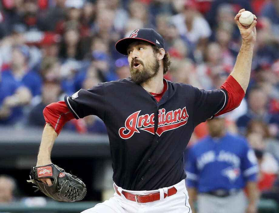 Indians relief pitcher Andrew Miller throws against the Blue Jays on Saturday. Photo: Matt Slocum — The Associated Press  / AP