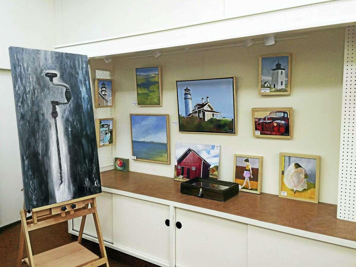 Art work from Still River Studio on Main Street in Winsted.