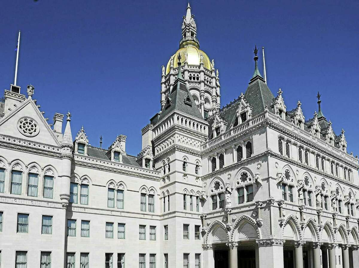 The State Capitol is seen April 12 in Hartford.