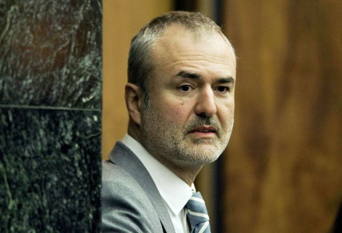 Gawker Media founder Nick Denton arrives in a courtroom in St. Petersburg, Fla. in March. Gawker Media has filed for Chapter 11 bankruptcy protection, about three months after pro wrestler Hulk Hogan won a $140 million lawsuit against the online gossip and news publisher.