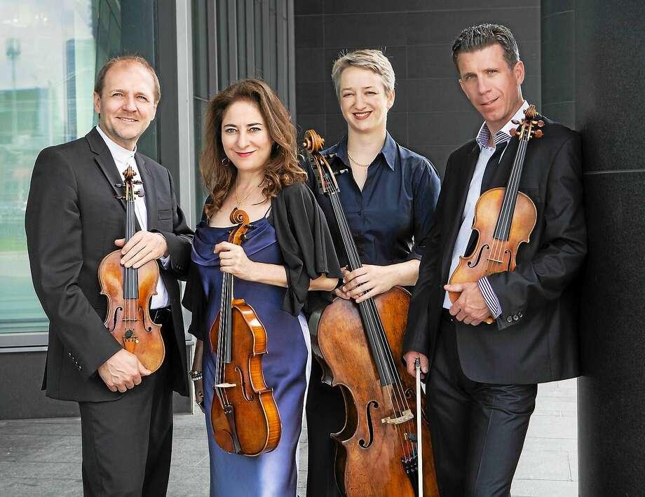 Contributed photo The Penderecki Quartet performs at Music Mountain Sunday, Aug. 2. Photo: Journal Register Co. / Cylla von Tiedemann