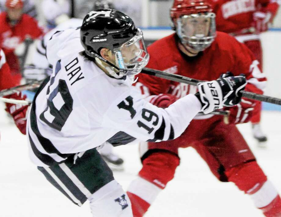 Anthony Day has rehabbed himself back into Yale's lineup after he suffered a fractured fibula in November. Photo: Photo Courtesy Of Yale Athletics  / 2013 All Rights Reserved