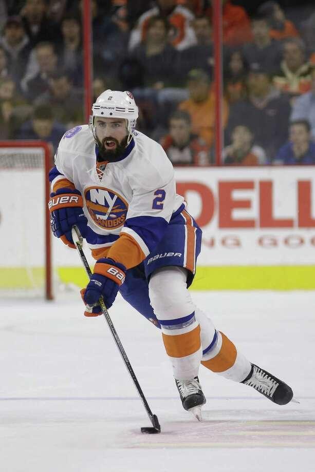 The FBI is investigating social media threats made against New York Islanders defenseman Nick Leddy. Photo: Matt Slocum — The Associated Press File Photo  / AP