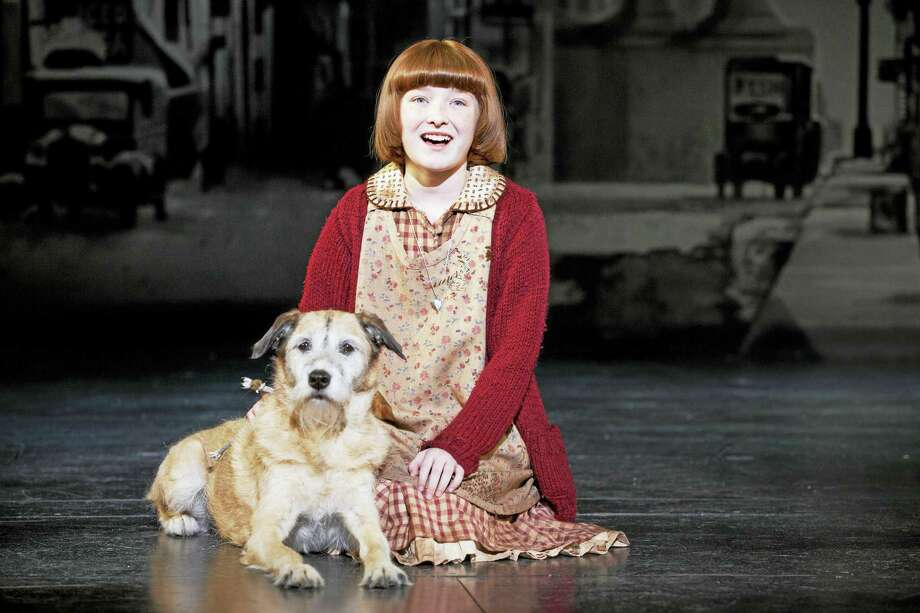Heidi Gray as Annie, with Macy as Sandy. Photo: Photo Courtesy Of Joan Marcus  / ©201 Joan Marcus?