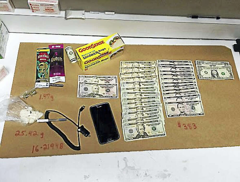 Items recovered during the arrest. Photo: Courtesy Torrington PD