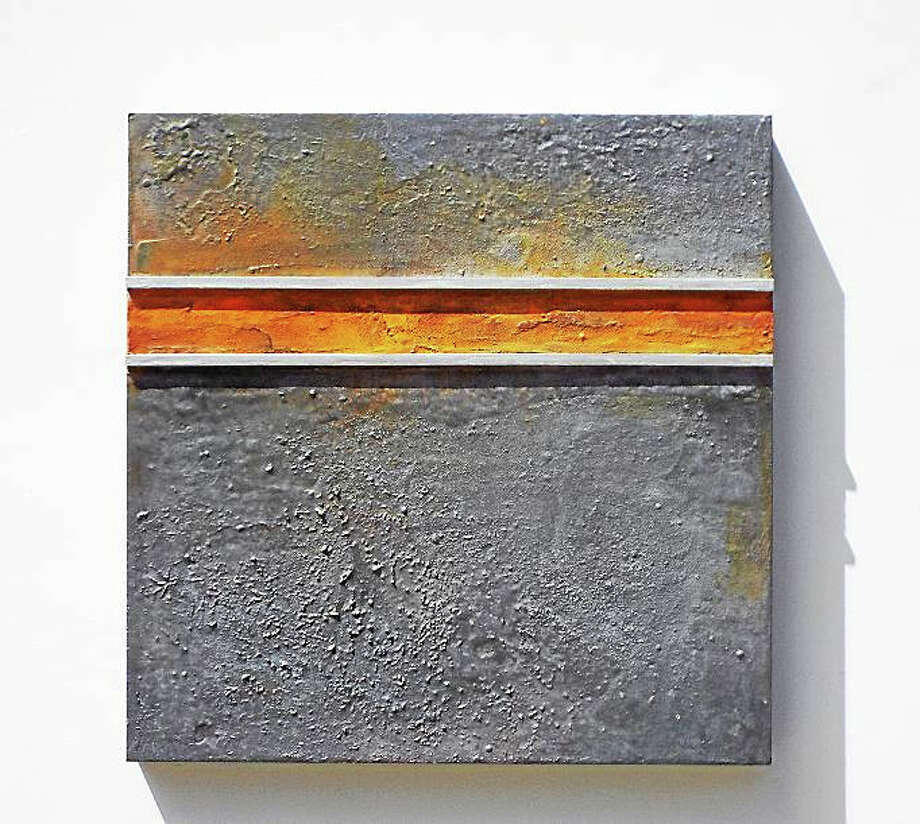 Contributed photo  Pamela Stockamore's abstract artwork is on exhibit at Northwest Connecticut Community College in Winsted. Above, Auger Series – The Space Between, water media, graphite, & mineral pigments on panel. Photo: Journal Register Co.