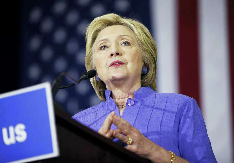 Democratic presidential candidate Hillary Clinton speaks at a rally June 3 in Culver City, California. Photo: THE ASSOCIATED PRESS  / Copyright 2016 The Associated Press. All rights reserved. This material may not be published, broadcast, rewritten or redistribu