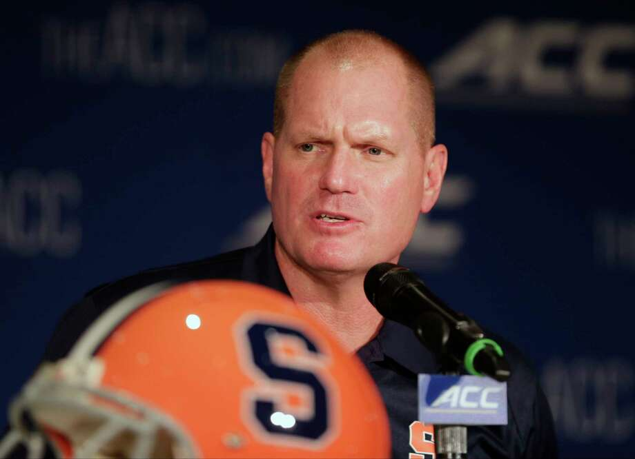 Syracuse has fired football coach Scott Shafer two days after the team's eighth straight loss. Shafer will coach the season finale against Boston College on Saturday. Photo: Chuck Burton — The Associated Press File Photo  / AP