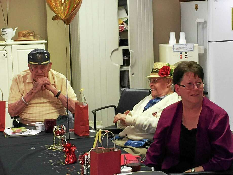 The celebration held Monday for centenarian residents of the Litchfield Woods Health Care Center, located in Torrington. Photo: Ben Lambert — The Register Citizen