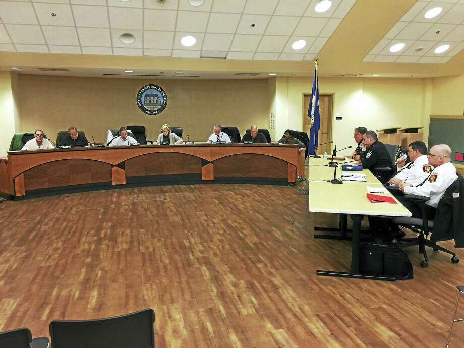 The Torrington Board of Public Safety met Tuesday to discuss fire and police department budgets. Photo: Ben Lambert — The Register Citizen