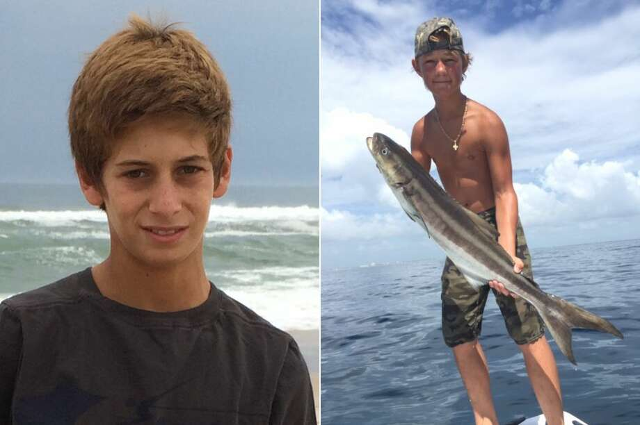 This combination made from photos provided by the U.S. Coast Guard shows Perry Cohen, left, and Austin Stephanos, both 14 years old. Cohen and Stephanos were last seen Friday afternoon July 24, 2015 in the Jupiter, Fla. area buying fuel for their 19-foot boat before embarking on a fishing trip. Photo: U.S. Coast Guard Via AP  / U.S. Coast Guard