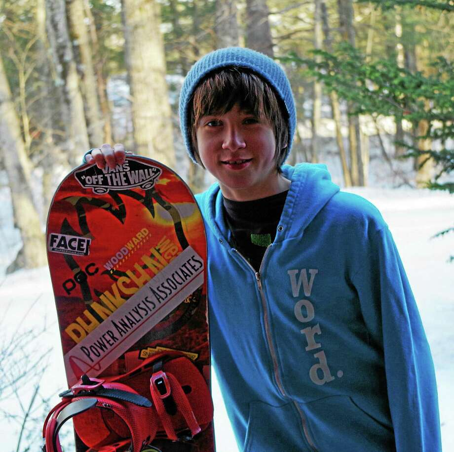 Cooper Thibault, 13, is headed for the United States of American Snowboarding Association (USASA) Nationals in Colorado this weekend. Photo: Contributed Photo